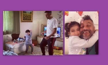 Στέλιος Κρητικός: Θα «λιώσεις» με το βίντεο με την κόρη του μέσα από το σπίτι τους