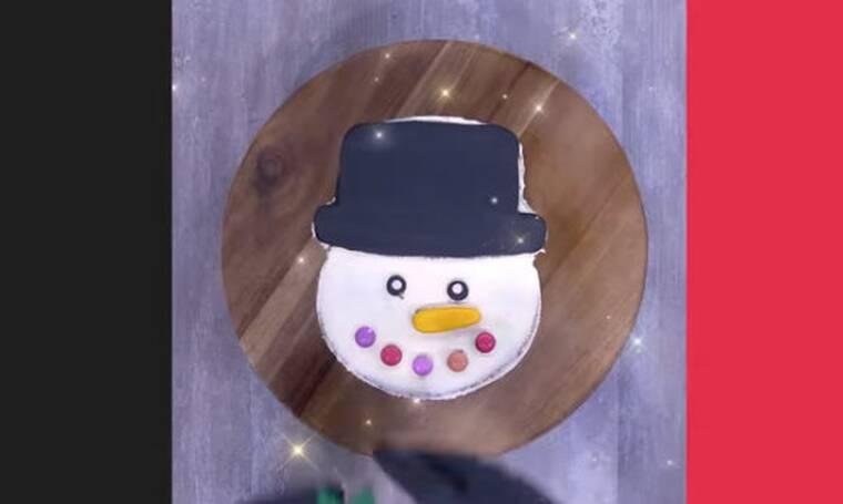 Κέικ χιονάνθρωπος από τον Άκη Πετρετζίκη!