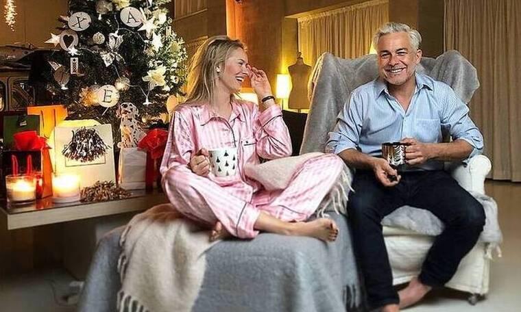 Χριστόπουλος - Μπραντ: Ο χριστουγεννιάτικος στολισμός του σπιτιού τους είναι το κάτι άλλο!