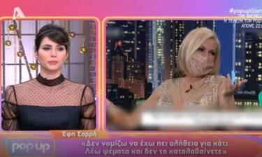 Pop up: Ξέσπασε η Ηλιάνα κατά της Έφης Σαρρή - Η ενόχληση για τα ψέματα και τα... γελάκια