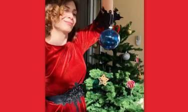 Άγριες Μέλισσες: Η Μυρσίνη στόλισε το δέντρο της αλλά όχι στο σαλόνι! Δες πλάνα από το σπίτι της