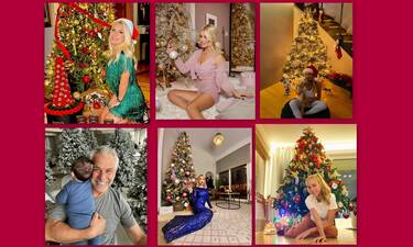 Χριστούγεννα 2020: Τα ωραιότερα χριστουγεννιάτικα δέντρα φέτος - Ποιοι celebrities εντυπωσίασαν;