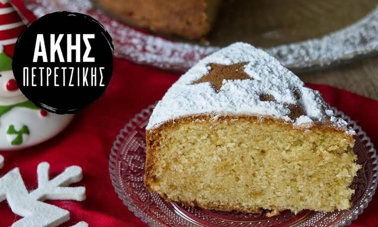 Βασιλόπιτα κέικ από τον Άκη Πετρετζίκη