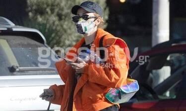 Ελένη Φουρέϊρα: Με μάσκα καπέλο και γυαλιά ηλίου στη Γλυφάδα! (photos)
