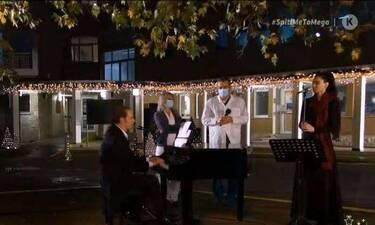 Συγκινεί ο Κορκολής! Τραγούδησε στο νοσοκομείο Σωτηρία για γιατρούς και ασθενείς!