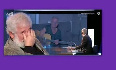 Πέτρος Φιλιππίδης: «Λύγισε» στον αέρα της εκπομπής του Χατζηνικολάου - Τι συνέβη;