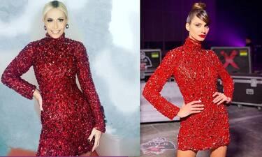 Μπακοδήμου vs Παπαγεωργίου: Με το ίδιο φόρεμα… όμως η λεπτομέρεια μετράει!