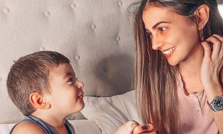 Αγγελική Δαλιάνη: Απίθανο το νέο κρεβάτι του γιου της - Δείτε φώτο