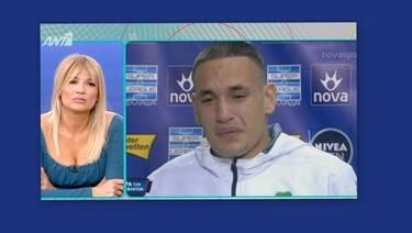 Λύγισαν στο Πρωινό με την εικόνα του ποδοσφαιριστή που έκλαιγε με λυγμούς για τη μητέρα του