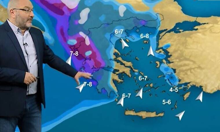 Καιρός - Αρναούτογλου: Γρίφος η Αττική, το πιθανό σενάριο χιονοπτώσεων της Δευτέρας