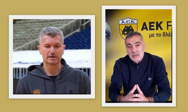 Ηλίας Ατματσίδης και Γιώργος Καλαϊτζής δίπλα στα παιδιά των Αθλητικών Ακαδημιών ΟΠΑΠ