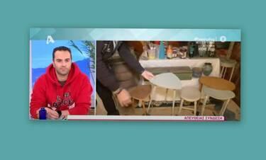 Παρουσιάστρια παίρνει αντικείμενα από τα σκουπίδια και φτιάχνει χρηστικά πράγματα για το σπίτι