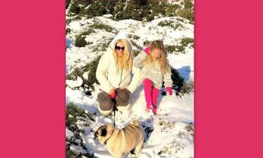 Μενεγάκη:Η φώτο στα χιόνια με τη Μαρίνα έγινε viral - Τα σχόλια όλης της οικογένειας στο instagram