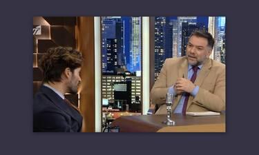 Η απίστευτη ατάκα του Αρναούτογλου στον Καράβα: «Θα γίνεις τηλεοπτικό ζώο» - Η αντίδρασή του