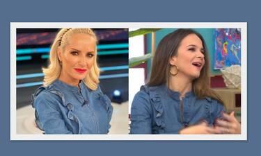 Μπεκατώρου-Χρυσικοπούλου: Ποια φόρεσε το τζιν πουκάμισο καλύτερα; (pics)