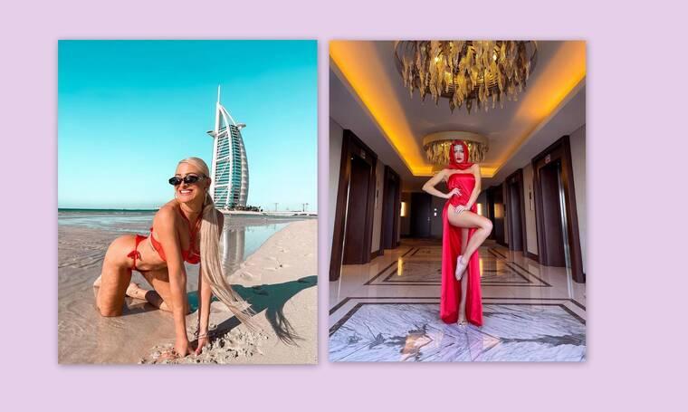 Ιωάννα Τούνη: Το φωτογραφικό άλμπουμ από το πολυσυζητημένο ταξίδι της στο Ντουμπάι
