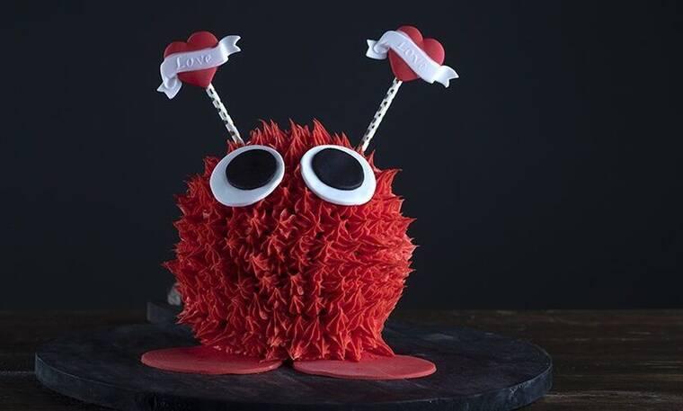 Μία τούρτα για του Αγίου Βαλεντίνου! Τούρτα τερατάκι της αγάπης από τον Πετρετζίκη!