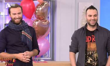 Happy Day: Τα έχασε ο Κώστας Φραγκολιάς on air όταν είδε τον… σωσία του!