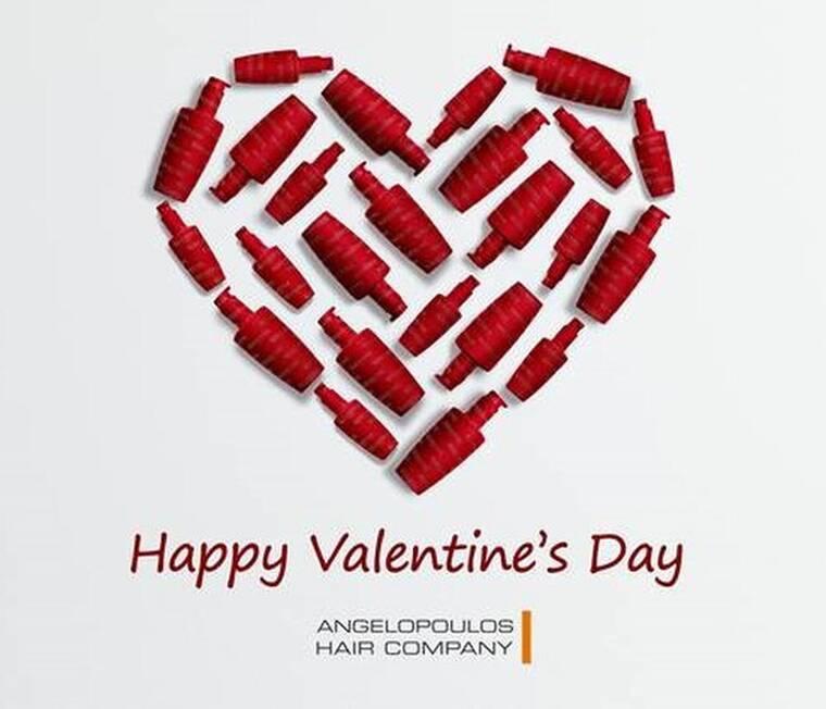 Happy V-Day από την Angelopoulos Hair Company με προϊόντα Kérastase&Steampod L'Oréal Professionel!