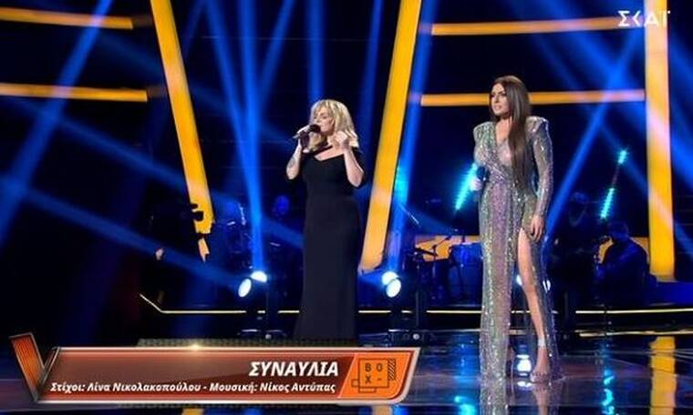 The Voice τελικός: Παπαρίζου - Ζουγανέλη: Το ντουέτο και οι λαμπερές εμφανίσεις τους!