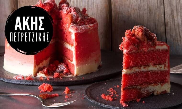 Το απόλυτο Red Velvet Cake για την ημέρα του Αγίου Βαλεντίνου από τον Άκη Πετρετζίκη