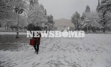 LIVE BLOG Κακοκαιρία: Λευκή «εισβολή» στην Αττική - Χιόνια μέχρι και στην Ακρόπολη