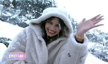 Pop Up: Και η Ηλιάνα Παπαγεωργίου βγήκε ζωντανά έξω από το στούντιο, στο χιόνι!