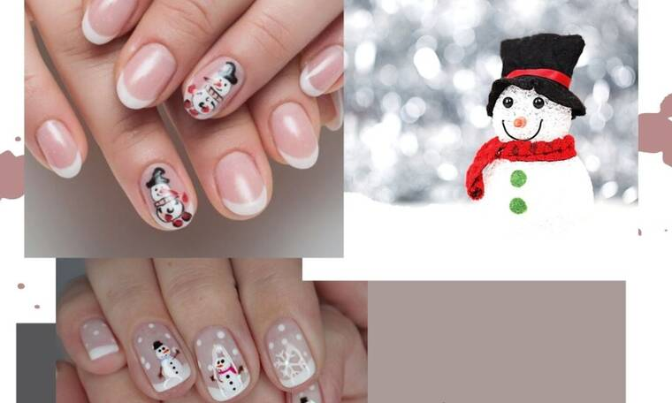 Let it snow! Σήμερα φτιάχνουμε χιονάνθρωπους στα νύχια μας…