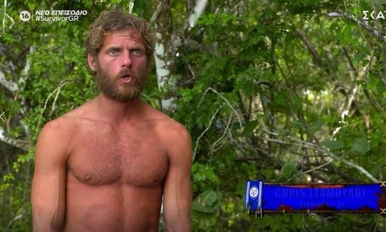 Survivor: Chris: «Ο Πάνος Καλίδης μού φαίνεται ένας πάρα πολύ πονηρός άνθρωπος»