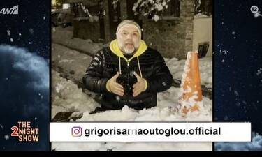 The 2Night Show: Ο Αρναούτογλου παρουσίασε τους καλεσμένους του βουτηγμένος στο χιόνι!