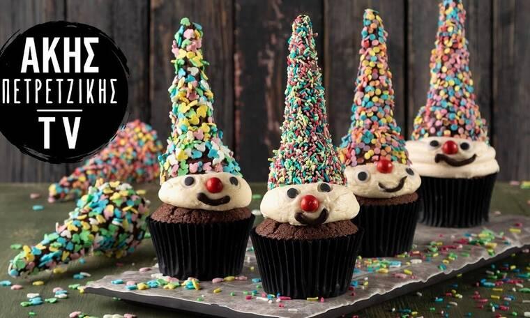 Φτιάξτε λαχταριστά cupcakes κλόουν όπως ο Άκης Πετρετζίκης