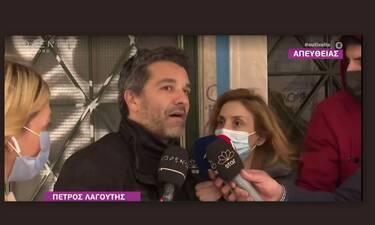 Πέτρος Λαγούτης: Έξαλλος με ρεπόρτερ: «Επιτεθήκατε και σε συναδέλφους γι' αυτό που με ρωτήσατε»
