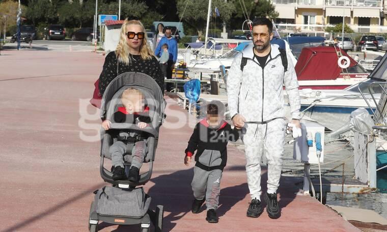 Γιαννιάς - Παντελιδάκη: Φόρεσαν τα αθλητικά τους και βγήκαν με τα αγόρια τους στην παραλία