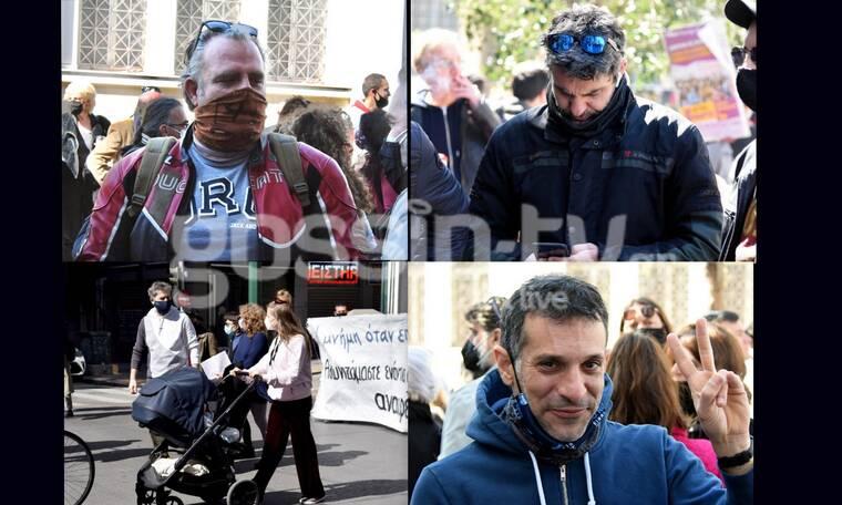 ΣΕΗ: Η πορεία των καλλιτεχνών στο κέντρο της Αθήνας