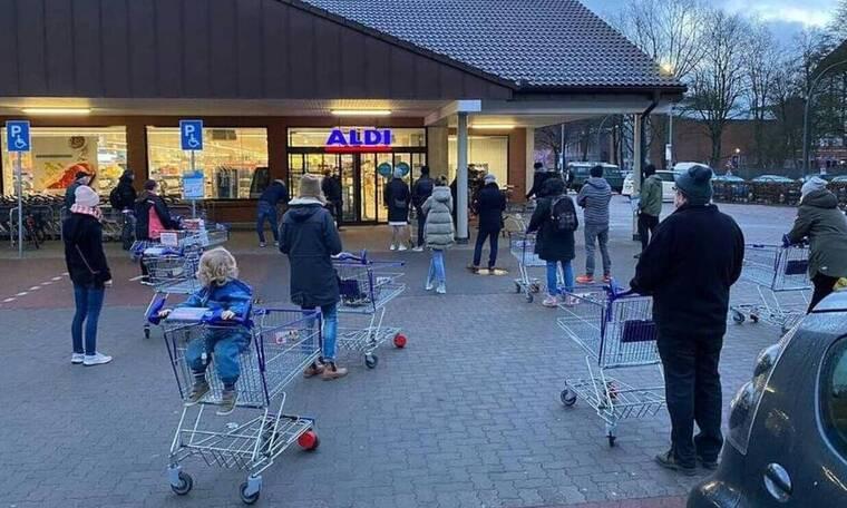Κορονοϊός - Γερμανία: Χαμός στα σούπερ μάρκετ της χώρας - Ξεκίνησαν να πουλάνε repid tests