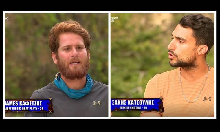 Survivor: Έξαλλος ο Σάκης με τον James: «Είσαι 24 χρόνων. Μάθε να μιλάς»