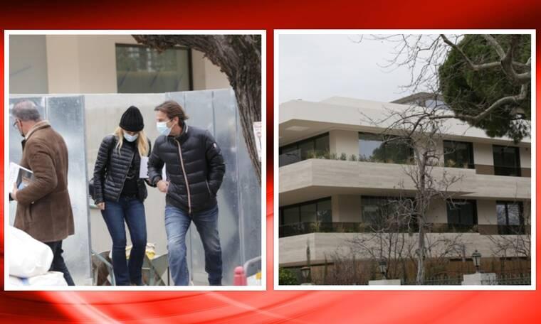 Μενεγάκη-Παντζόπουλος: Αυτό είναι το νέο τους σπίτι! Δείτε τους να επιβλέπουν τις εργασίες!