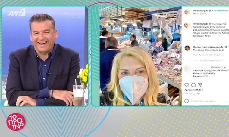 Τρελό γέλιο στο Πρωινό: «300 ευρώ που είναι το πρόστιμο είναι μόνο οι γαρίδες που πήρε η Μενεγάκη»