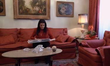 Ζωζώ Σαπουντζάκη: Τα νέα πλάνα μέσα από το σπίτι της στην Αρεοπαγίτου - Φανταστική διακόσμηση