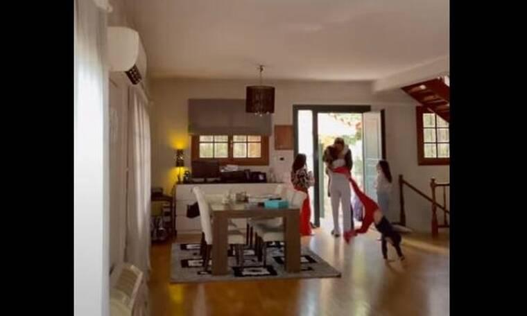 Survivor: Με τσιρίδες, αγκαλιές και ουρλιαχτά υποδέχτηκαν τον Καλίδη στο σπίτι!