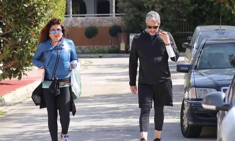 Παπαρίζου – Καψάλης: Το αθλητικό look και το jacket της Έλενας που μας ξετρέλανε