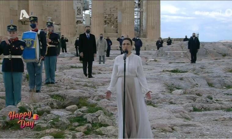 Αναστασία Ζαννή: Έψαλε τον Εθνικό Ύμνο στην Ακρόπολη - Θυμάσαι που έχεις ξαναδεί τη σοπράνο;