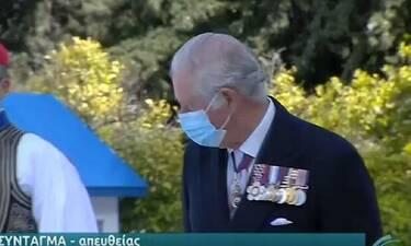 25η Μαρτίου: Πρίγκιπας Κάρολος: Δάκρυσε την ώρα της κατάθεσης στεφάνου