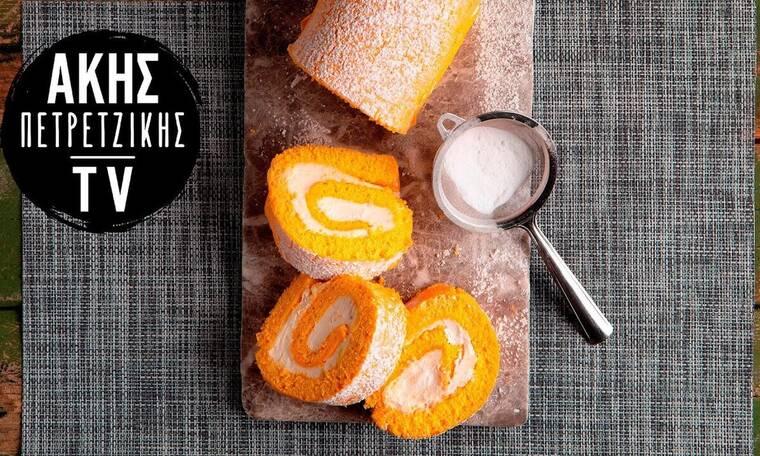Κορμός λεμονιού με τυρί κρέμα από τον Άκη Πετρετζίκη!