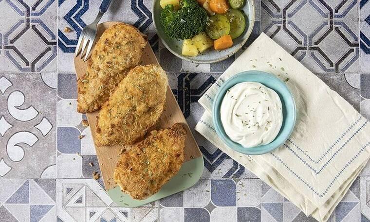 Φιλέτο κοτόπουλο πανέ στον φούρνο από τον Άκη Πετρετζίκη!