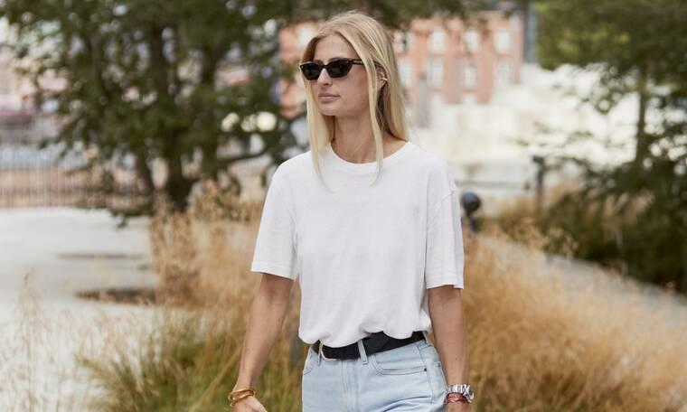 Οι πιο απλοί τρόποι να φορέσεις το λευκό μπλουζάκι σου
