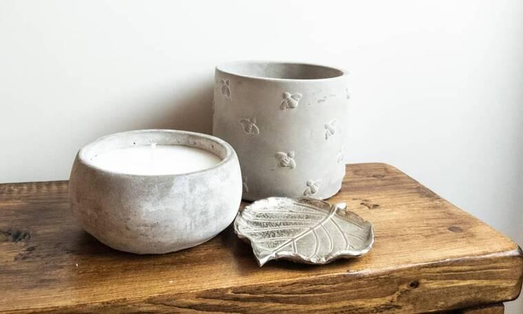 DIY: Πώς θα φτιάξεις αγαπημένα αντικείμενα για το σπίτι σου από τσιμέντο