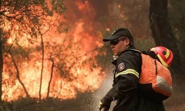Συναγερμός στα Καμένα Βούρλα: Μεγάλη φωτιά απείλησε σπίτια (pics & vid)