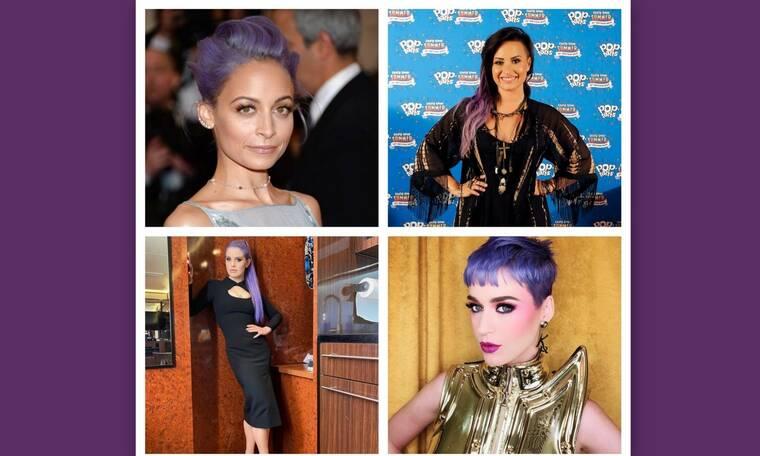 Οι celebrities που έκαναν πιο απολαυστικό το look τους και έβαψαν τα μαλλιά τους μωβ!