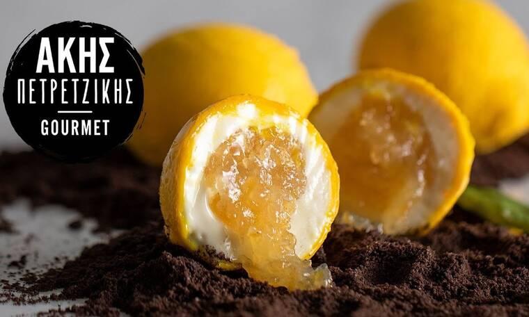 Γλυκό σε σχήμα λεμόνι από τον Άκη Πετρετζίκη